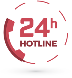 24 Hour Hotline Red