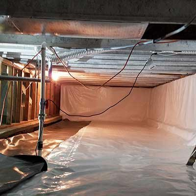 Crawl Space Vapor Barrier Installation
