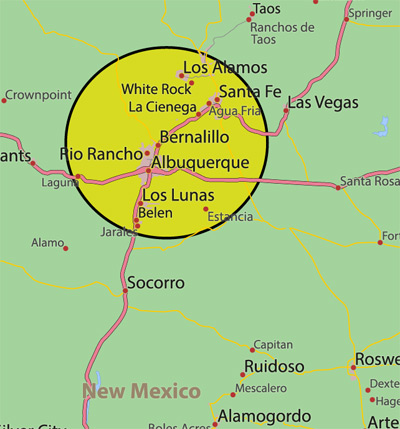 New Mexico Service Area Map