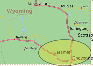 Wyoming Location Area Served
