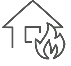 Fire Damage Repair Icon