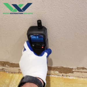 Moisture Meter Used To Measure Water Damage