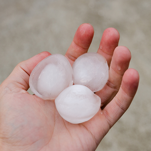 Large Hail Hits Fort Collins