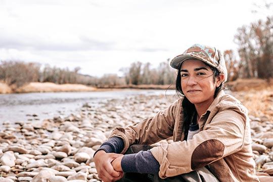 Cheyenne Woman Smiling